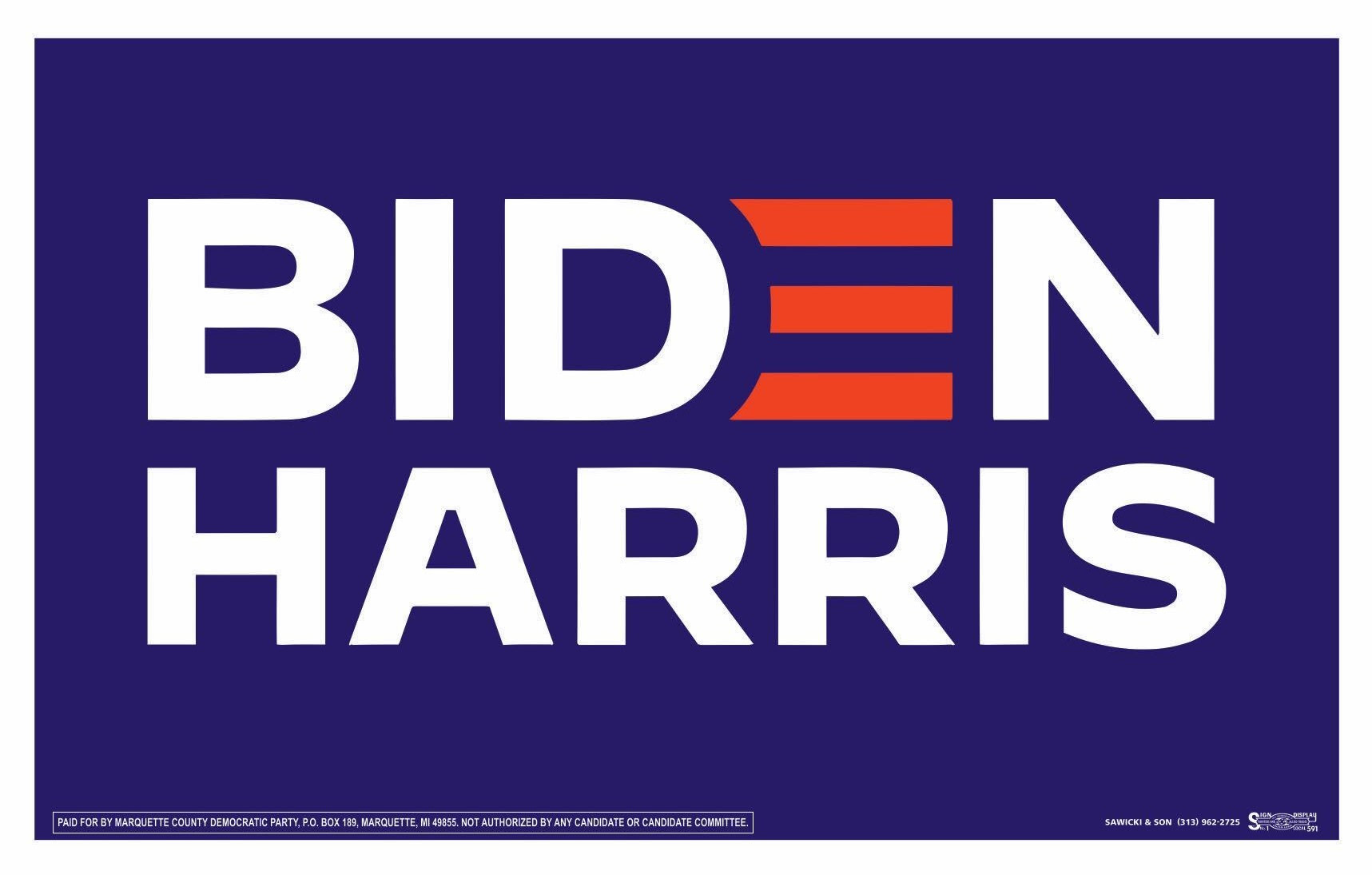 Reminder: Biden/Harris signs TODAY!